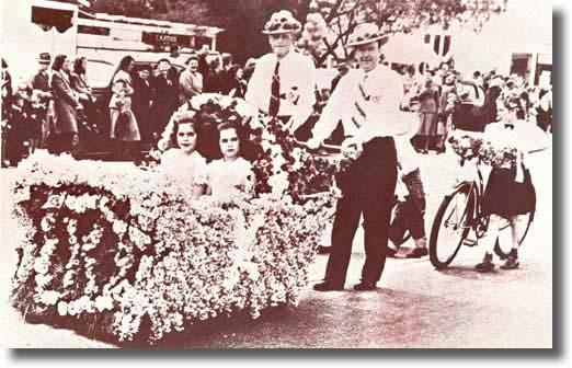 Temple City's first Camellia Festival Parade – 1944